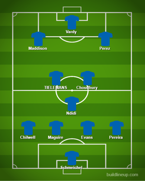 Leicester lineup